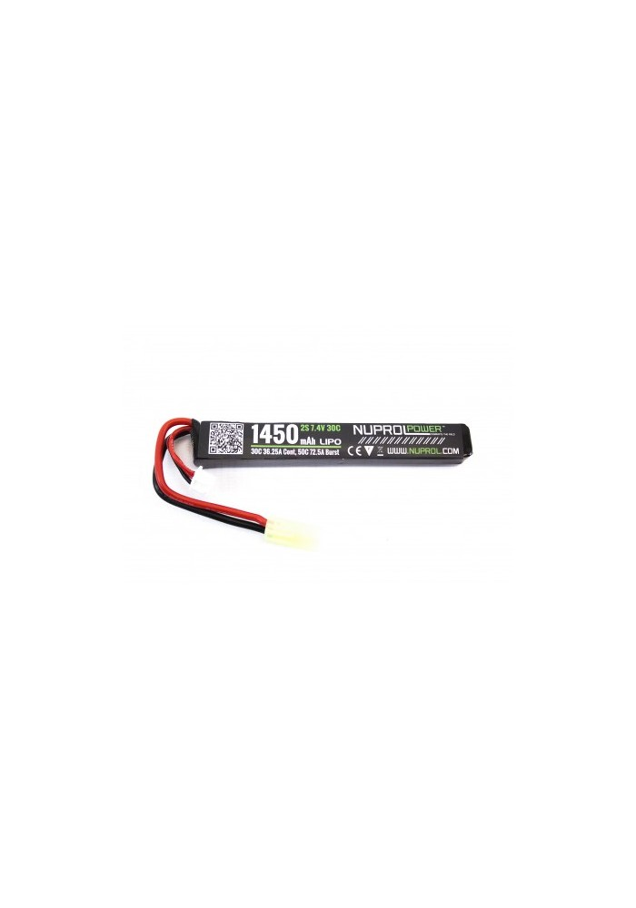 BATTERIE LIPO 7.4 V 1 ELEMENTS NUPROL 1450 MAH